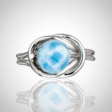 Larimar Ring - Imbedded Stone
