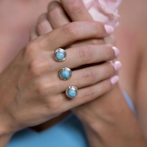 Larimar Ring - Double Finger