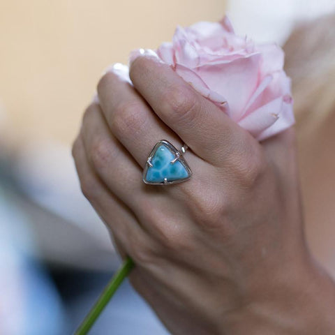Larimar Ring - Triangle