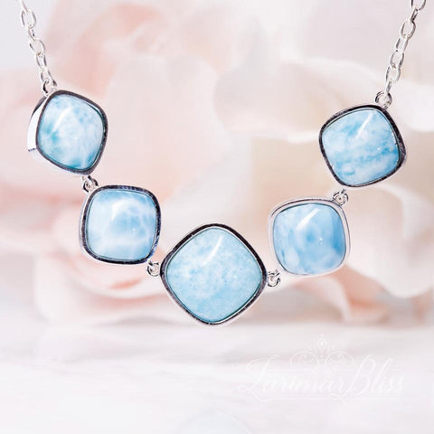 Larimar Rhombus Necklace