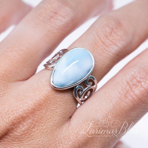 Oval Bliss Larimar Ring