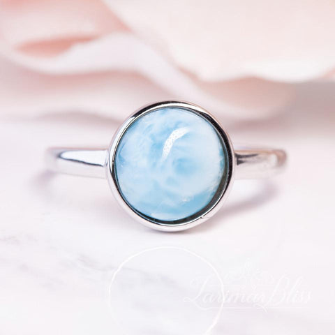 Round Sky View Larimar Necklace