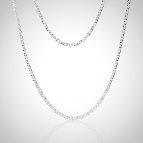 Sterling Silver Curb Chain - 1.4mm / 45cm