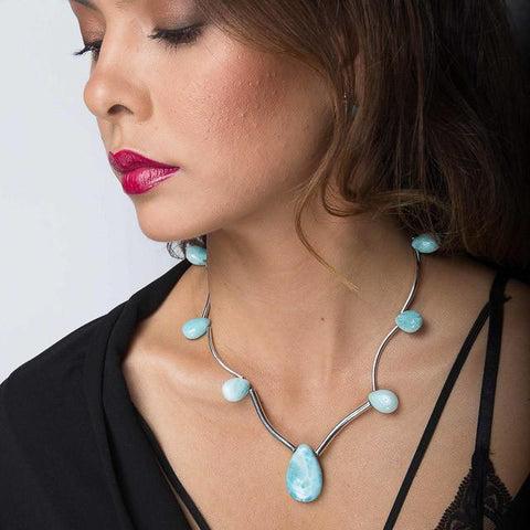 Larimar Necklace - Contrary Chic