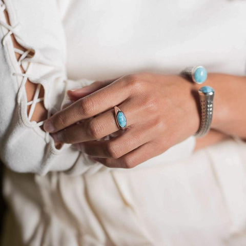 LAURA BONETTI Marquesa Collection - Larimar Ring