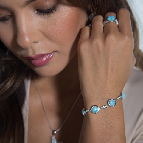 LAURA BONETTI Andrea Collection - Larimar Bracelet