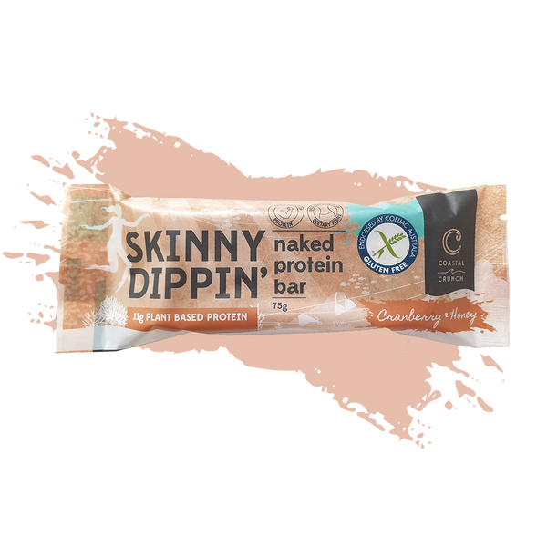 Skinny Dippin' Naked Protein Bar - Cranberry & Honey (75g)