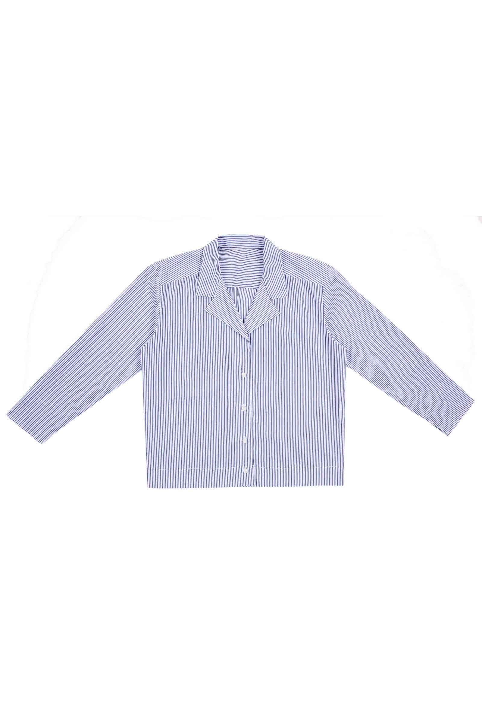 NOTCH LAPEL COTTON SHIRT