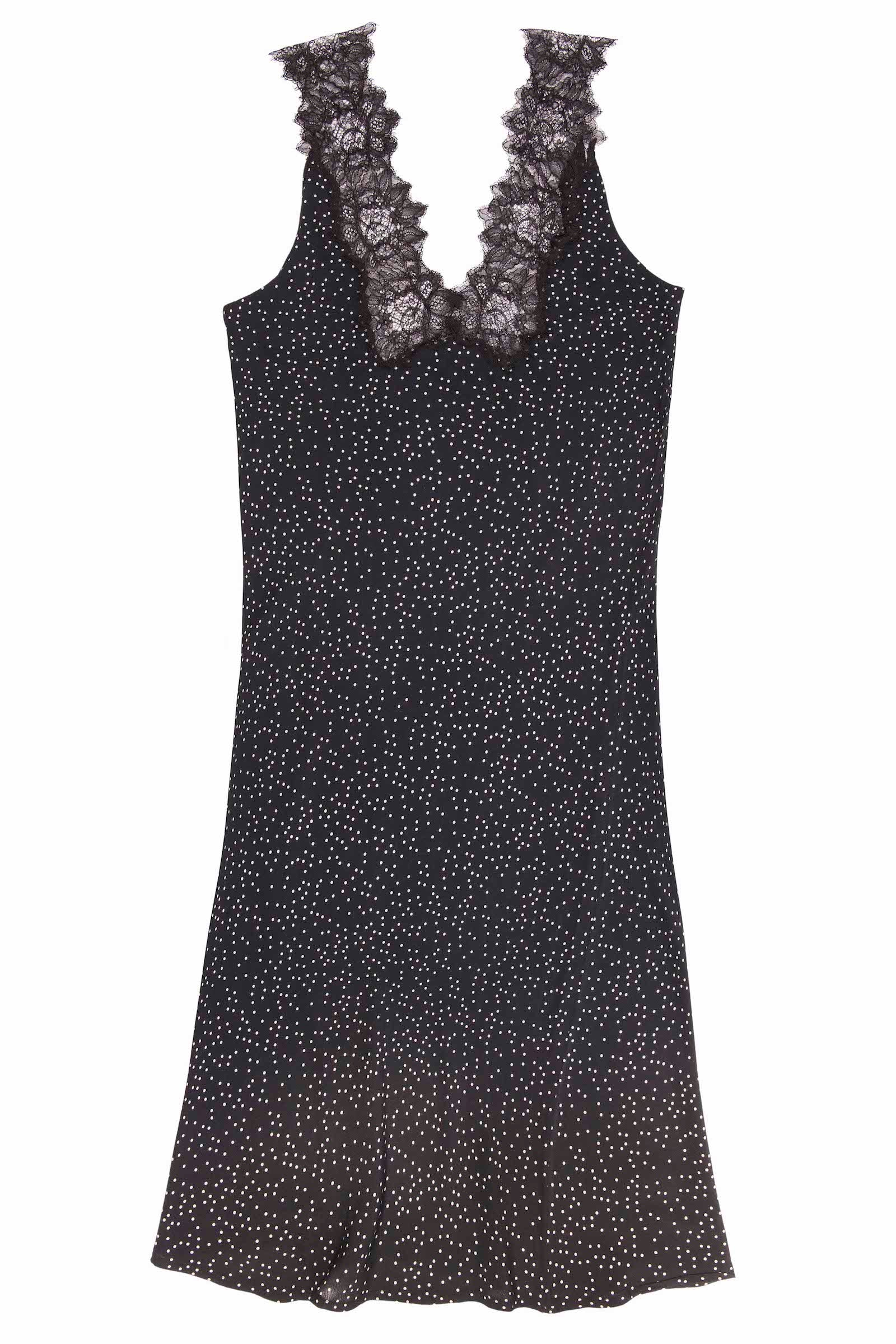 DOT PRINT CREPE MAXI DRESS