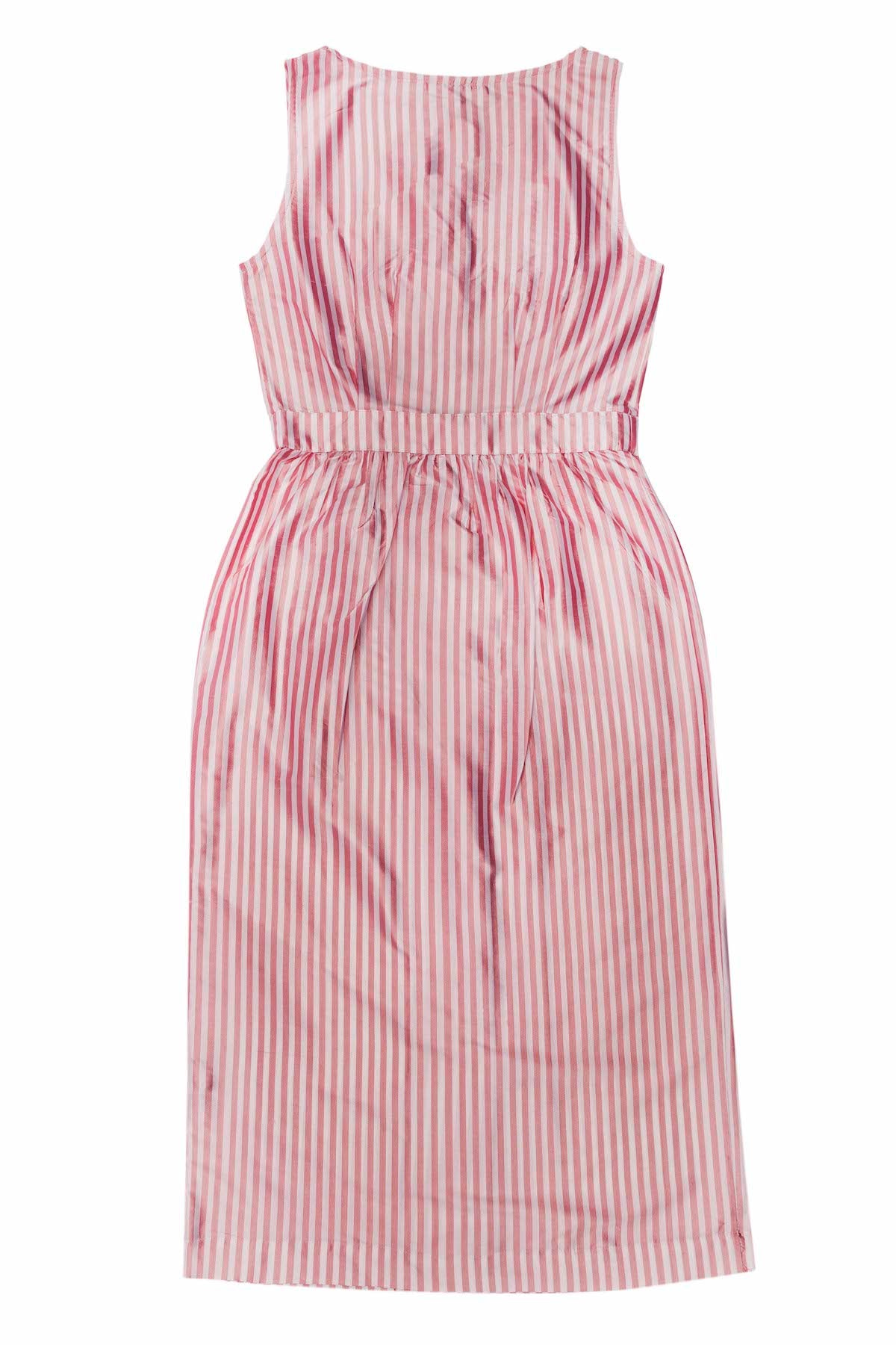 SILK STRIPE AUDREY DRESS