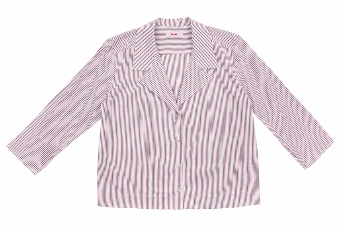 RELAXED FIT NOTCH LAPEL COTTON SHIRT