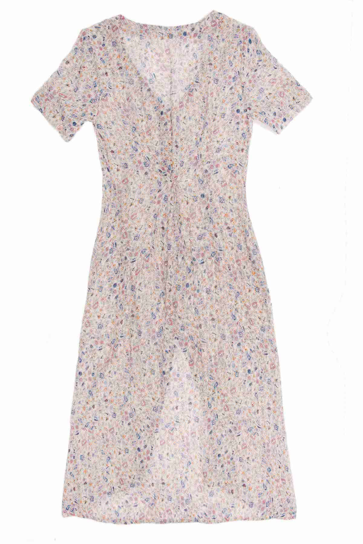 NUDE FLORAL SALINA DRESS