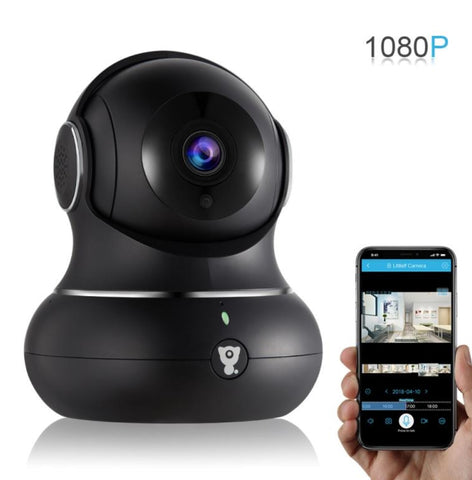 Littlelf Wi-Fi HD Smart IP Baby Monitor & Security Camera (Black)