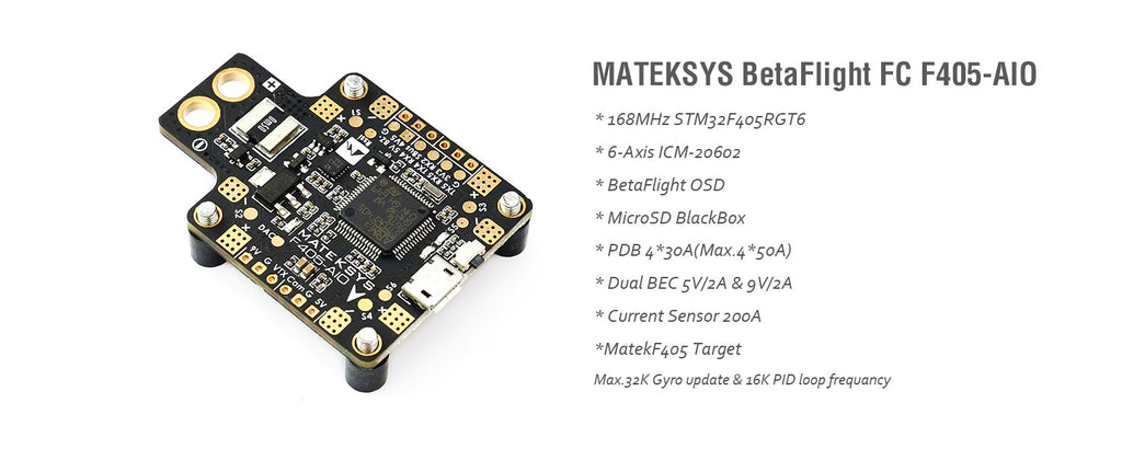Matek Flight Controller FC F405 AIO All-in-One