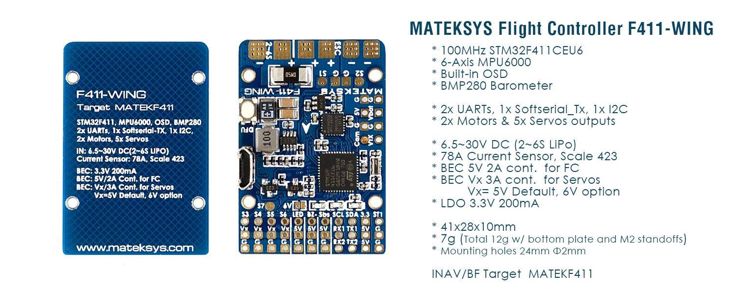 Matek Flight Controller F411-WING