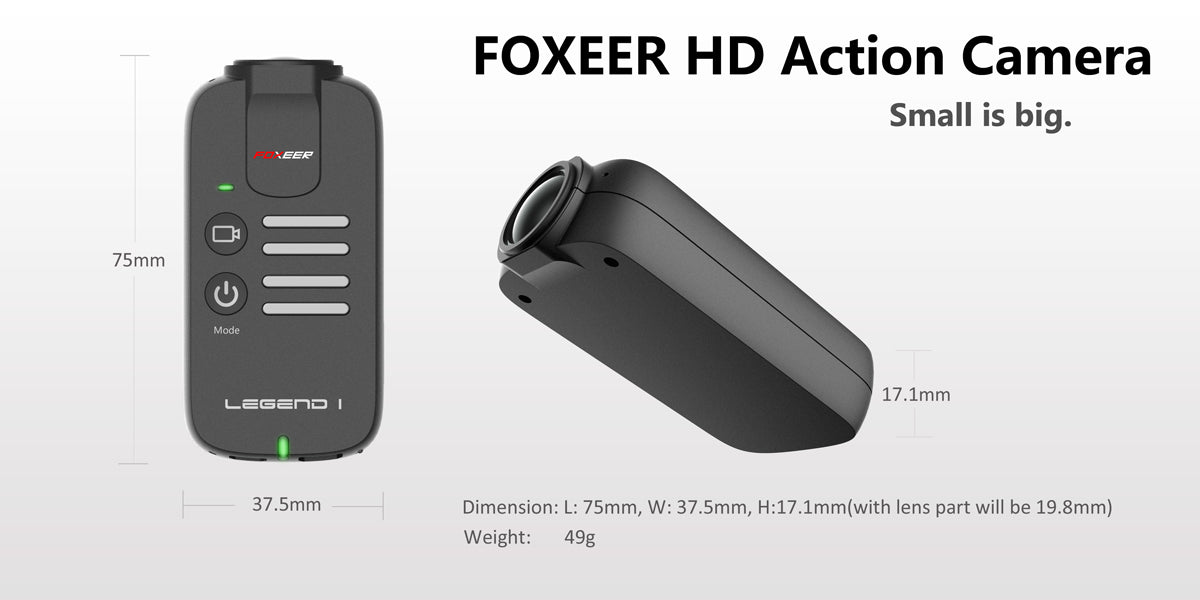 Foxeer Legend HD FPV Camera 1080P 60FPS