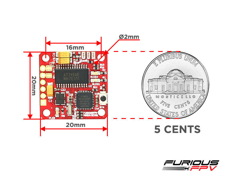 FuriousFPV MNOVA Adjustable 25/200mW PIT MODE OSD/VTX