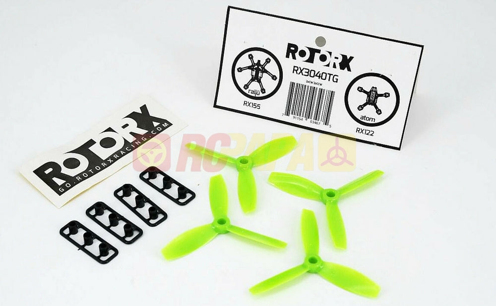 RotorX RX3040T Plastic Propeller (M5 / Green / CCW and CW)