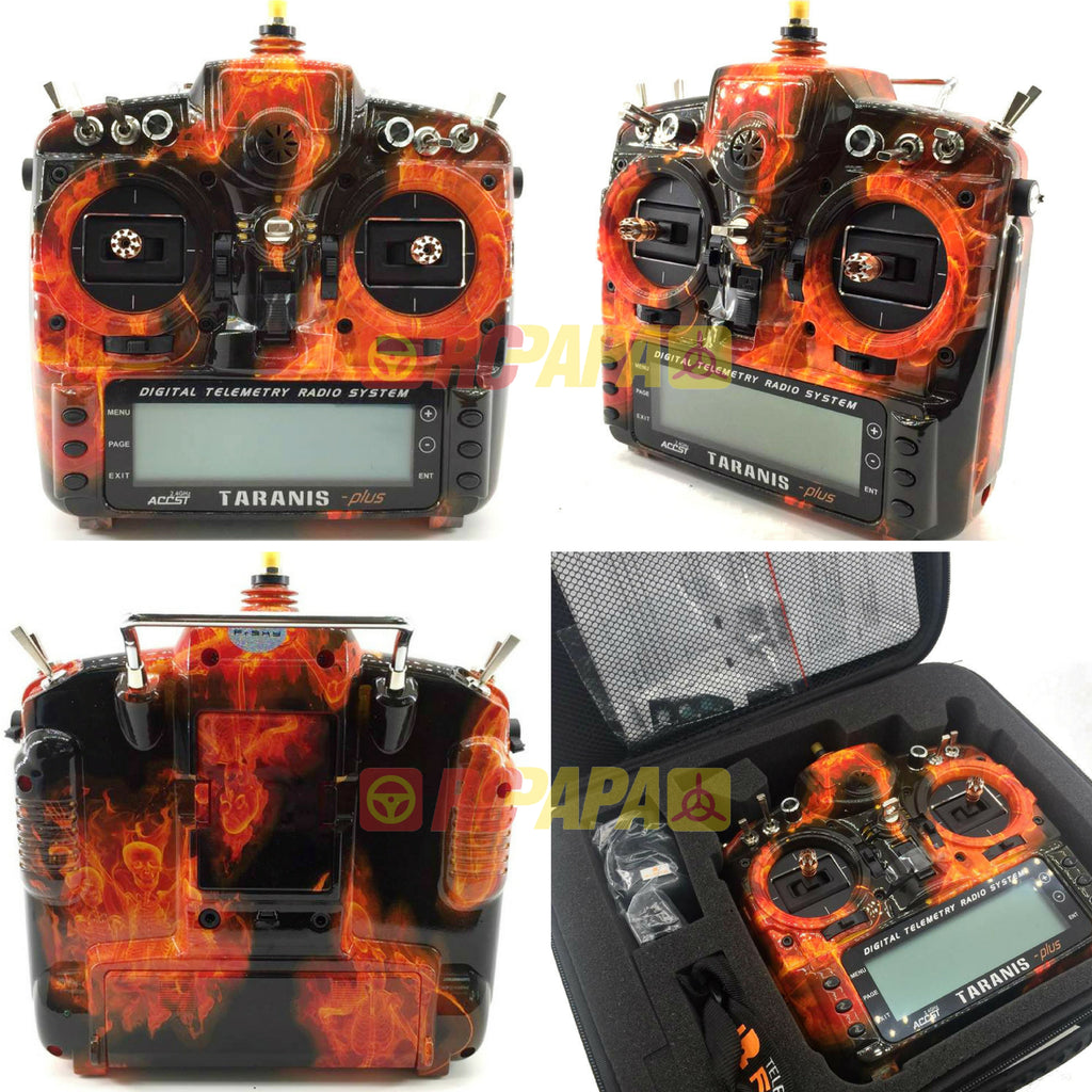 FrSky X9D Plus Taranis 2.4G 16ch Transmitter (Special Edition - Flame) - RC Papa