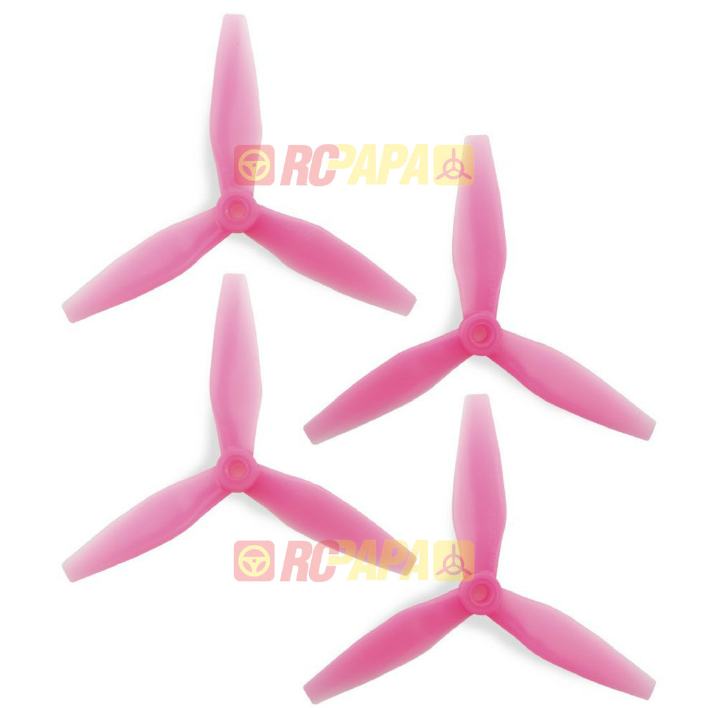 HQ Prop DP 5x4.5x3 v3 Tri-Blade Propellers (Light Pink) - RC Papa