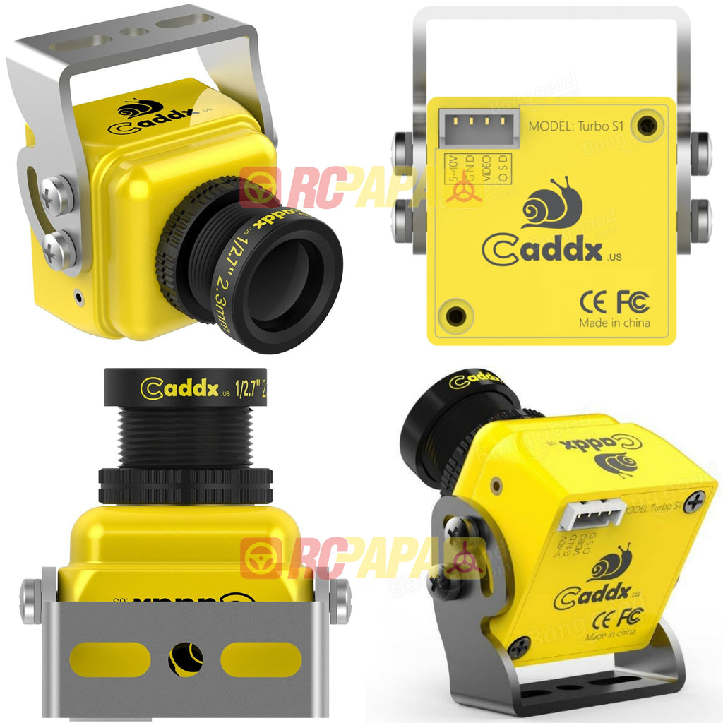 Caddx Turbo S1 1/3 CCD 600TVL FPV Camera - RC Papa