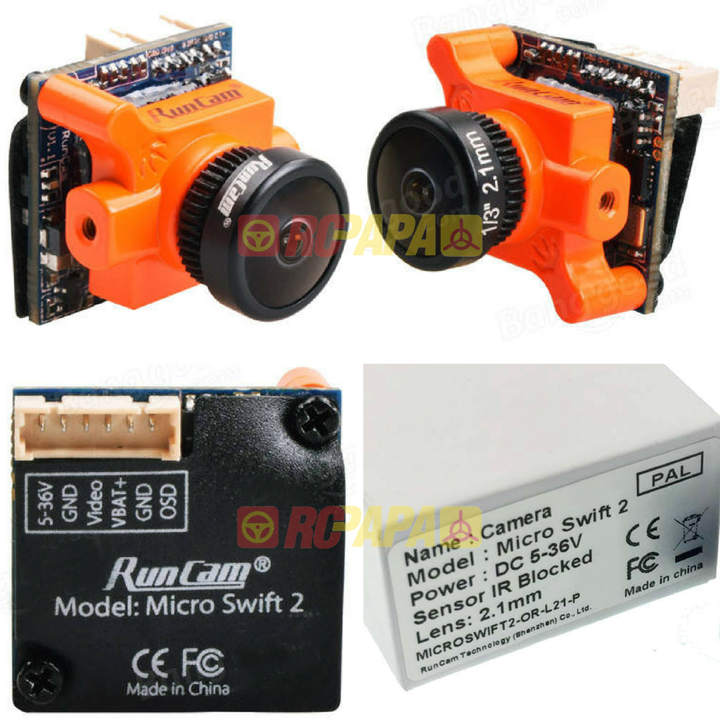 RunCam Micro Swift 2 FPV Camera (2.1mm/2.3mm Lens) - RC Papa