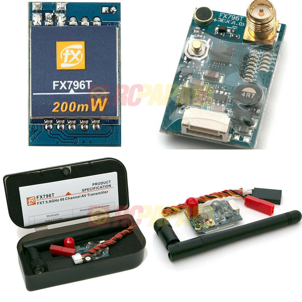 FXT FX796T 200mW 5.8GHz 40CH VTX Video Transmitter (SMA) - RC Papa