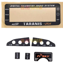 FrSky Taranis X9D Replacement LCD Monitor Screen Plate / Switch Sticker - RC Papa - 1