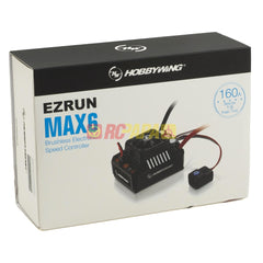 Hobbywing EZRUN Max6 V3 Waterproof 160A 3-8S ESC for 1/6 Scale RC Vehicle