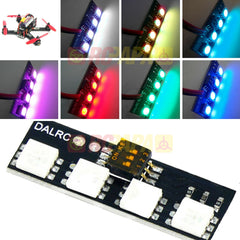 DALRC Mini LED Light Strip Board RGB 12v 7 Color for FPV Race - RC Papa