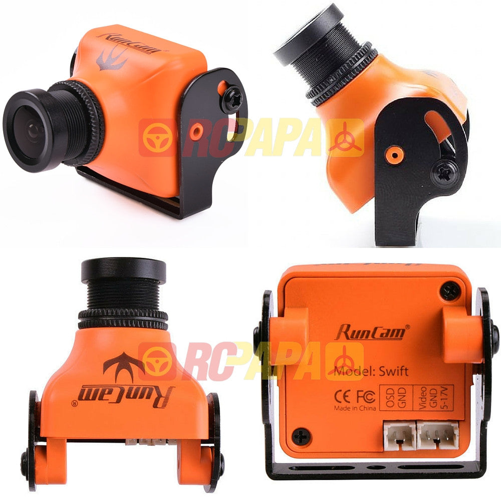 RunCam Swift 600TVL HS1177 Type mini FPV Camera (Orange/Silver) - RC Papa