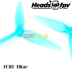 HQProp HeadsUp Racing Prop R38 Blue Poly Carbonate Propellers