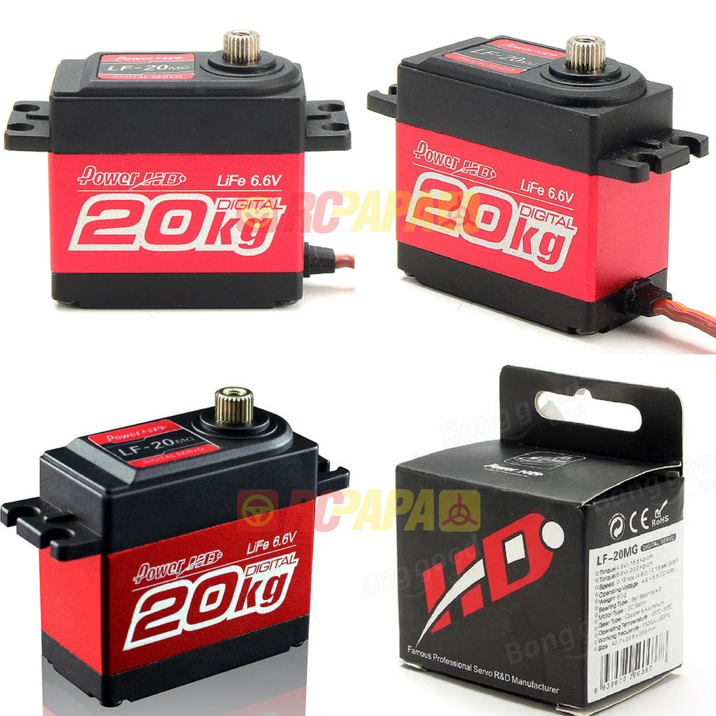 Power HD 20KG Torque Digital Servo (LF-20MG) - RC Papa