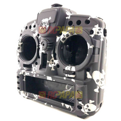 X9D Plus Taranis Radio Transmitter Water Transfer Shell (Black Skull) - RC Papa