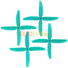 "HQ 5"" 5x4x4 Quad-Blade Glass Fiber Propellers (Skitzo Blue) - RC Papa"
