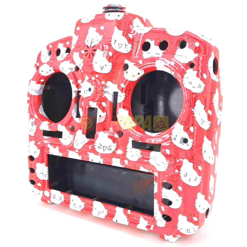 FrSky X9D Plus Taranis Radio Transmitter Water Transfer Shell (Hello Kitty Red) - RC Papa