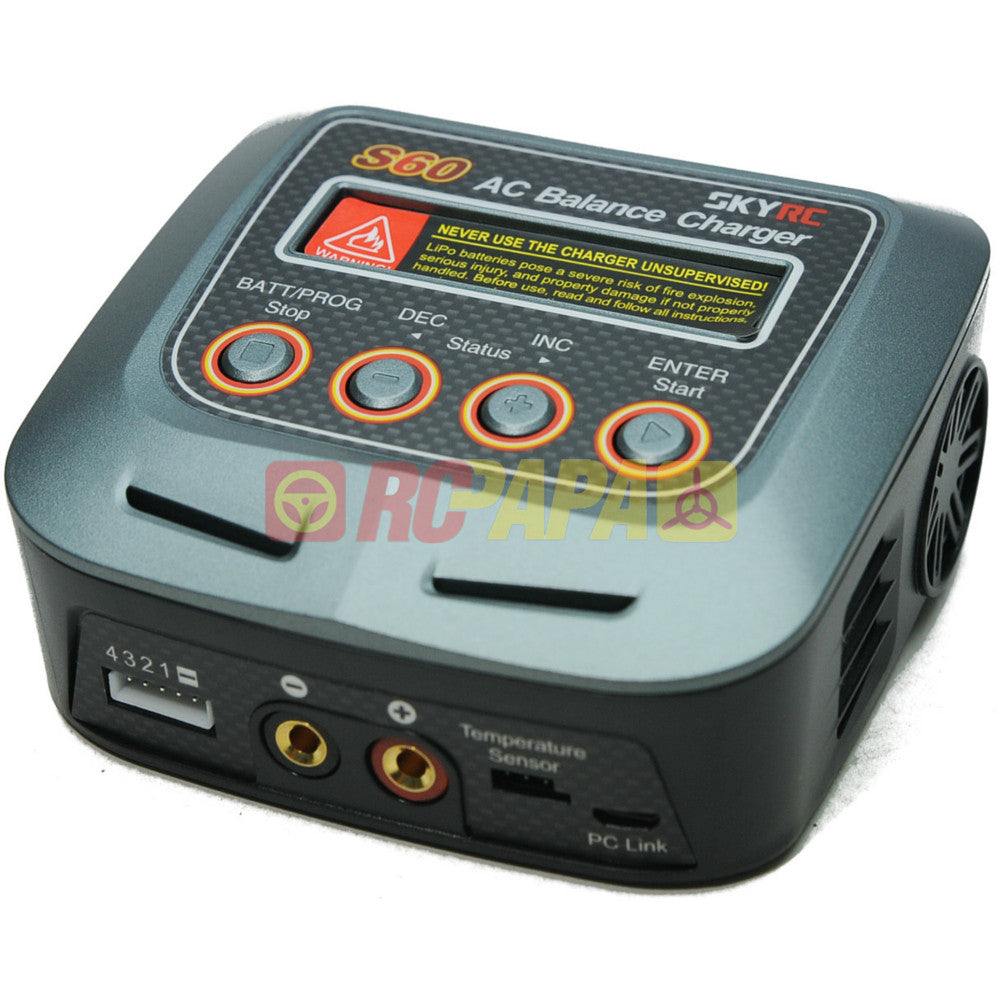 SkyRC S60 60W AC Balance Charger Discharger - RC Papa