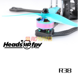 HQProp HeadsUp Racing Prop R38 Blue Poly Carbonate Propellers - RC Papa