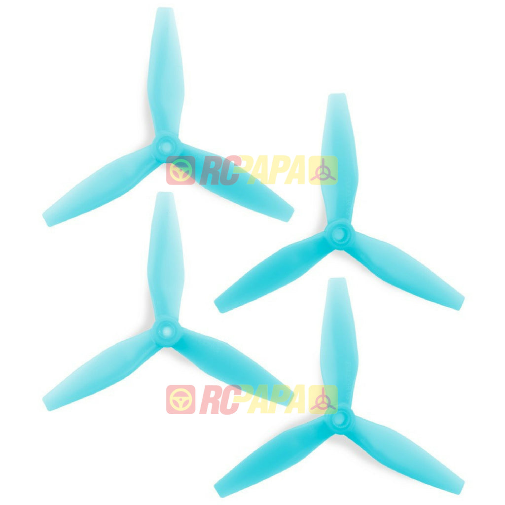 HQ Prop DP 5x4.5x3 v3 Tri-Blade Propellers (Light Blue) - RC Papa