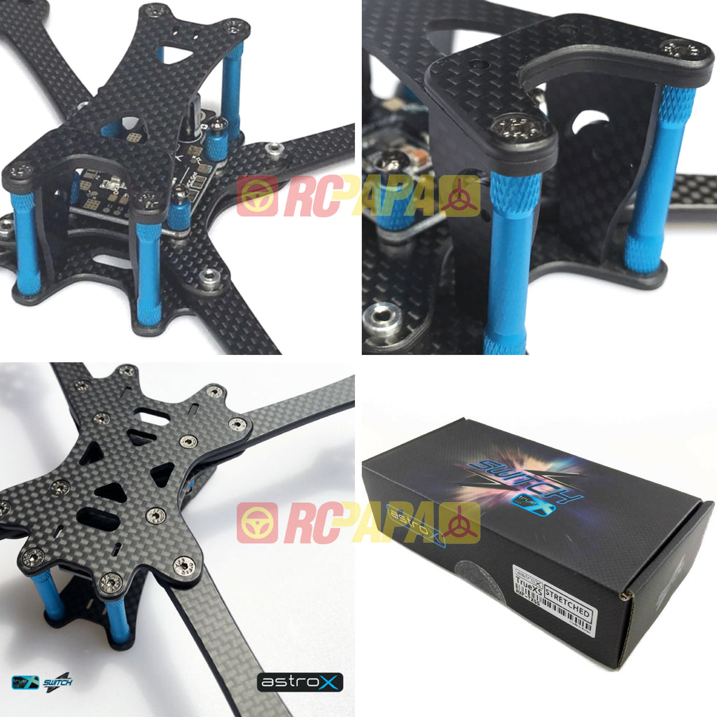 AstroX TrueXS Switch 220 FPV Racing Drone Frame Kit (Stretched X) - RC Papa