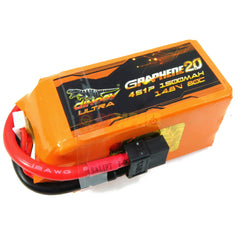 Dinogy Ultra Graphene 2.0 14.8v 4s 1500mah 80c Lipo Battery - RC Papa