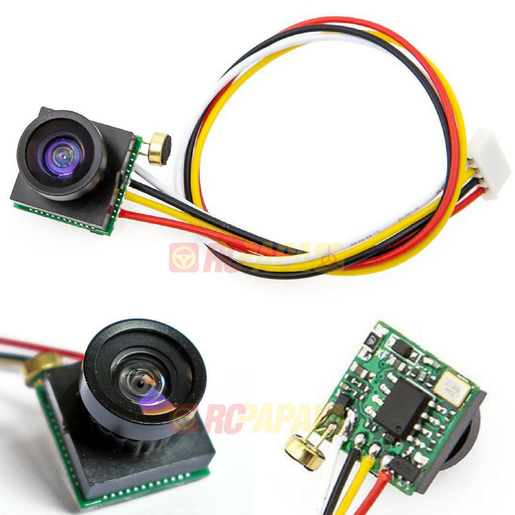 600TVL 110 Degree Wide Angle Super Mini FPV Camera with Mic (CC1563) - RC Papa