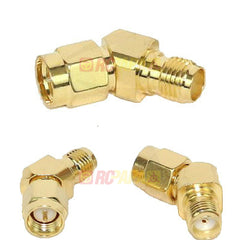 45 Degree Adapter Connector (SMA/RPSMA/Male/Female) - RC Papa