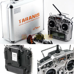 FrSky X9D Plus Taranis 2.4G ACCST 16ch Radio Transmitter X8R Receiver with Aluminum Case - RC Papa