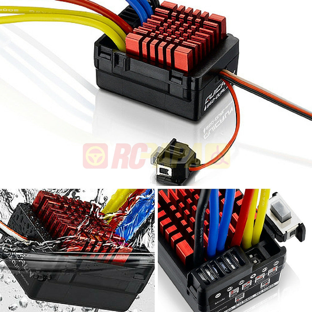 Hobbywing Quicrun Waterproof Brushed 860 Dual Motor ESC for RC 1/10 - RC Papa