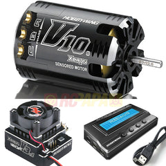Hobbywing XERUN V10 Motor V3.1 120A ESC Sensored Brushless Combo for 1/10 RC - RC Papa