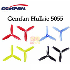 Gemfan Hulkie 5055 Tri-Blade Propeller for FPV Quad Racing - RC Papa