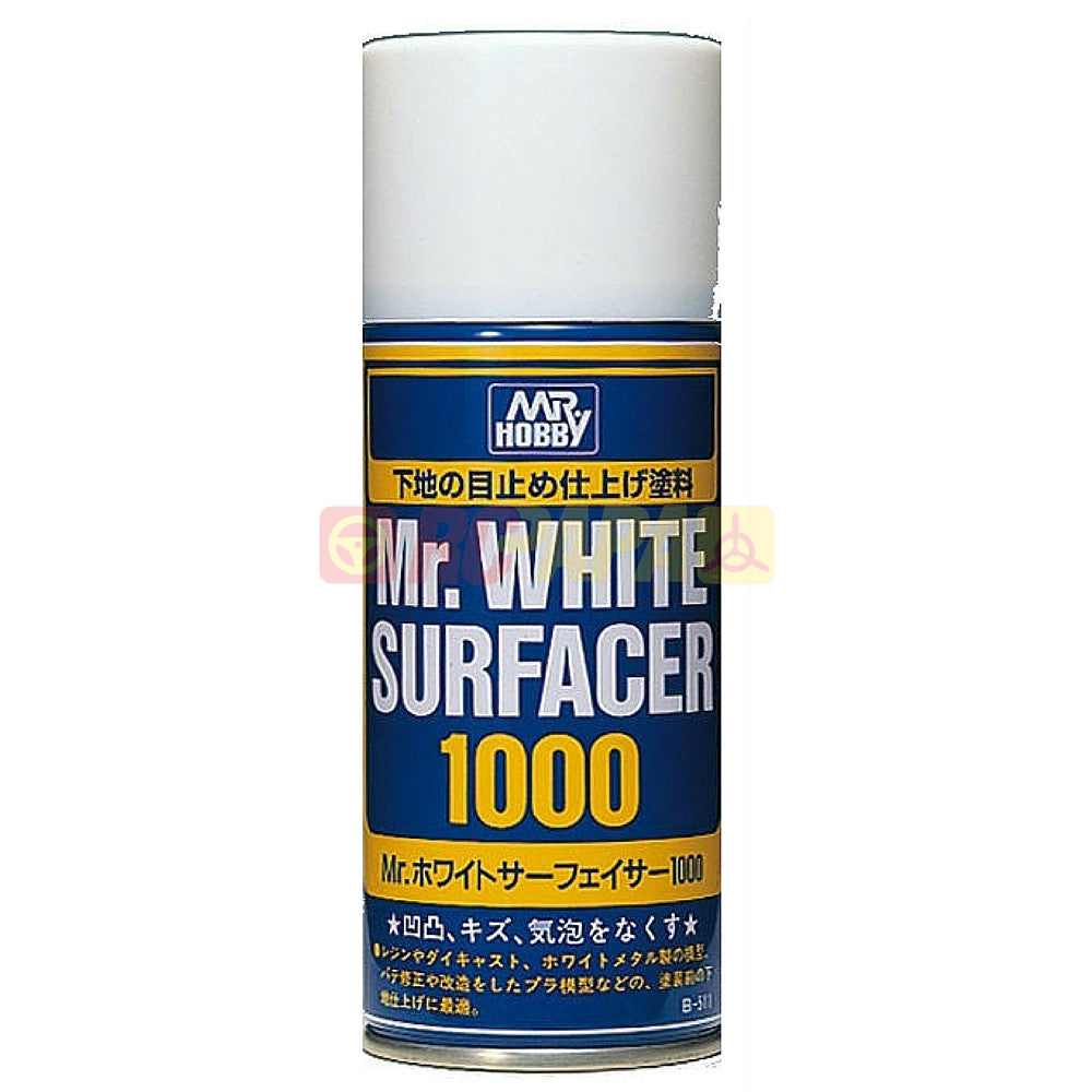 Mr. Hobby Mr. White Surfacer 1000 170ml Spray B511 - RC Papa