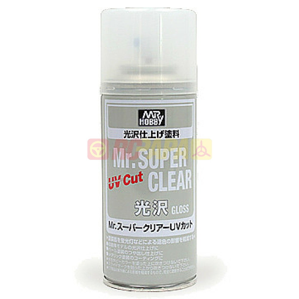 Mr. Hobby Mr. Super Clear UV Cut Gloss 170ml Sealant Spray B522 - RC Papa