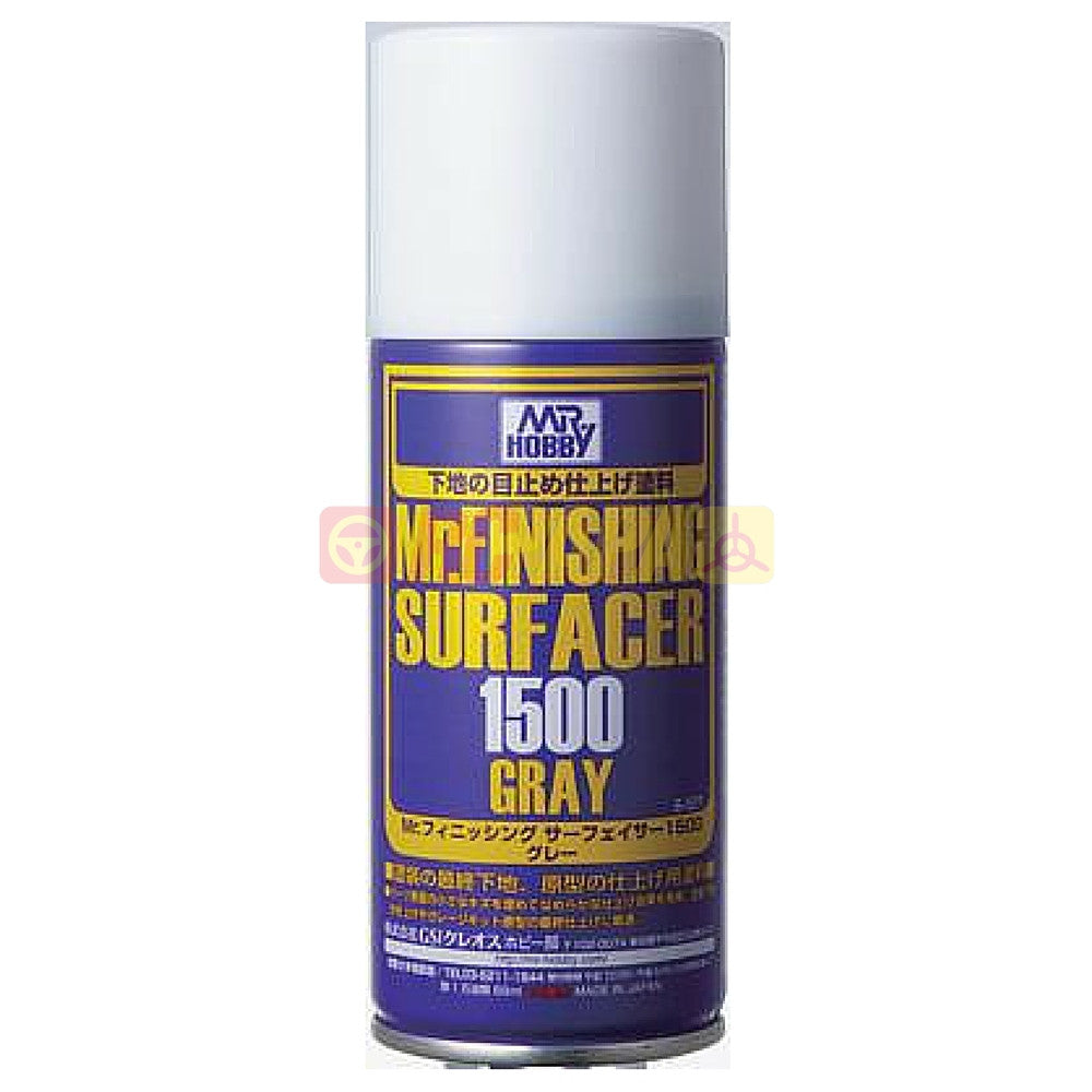 Mr. Hobby Mr. Finishing Surfacer 1500 Gray 170ml Spray B527 - RC Papa